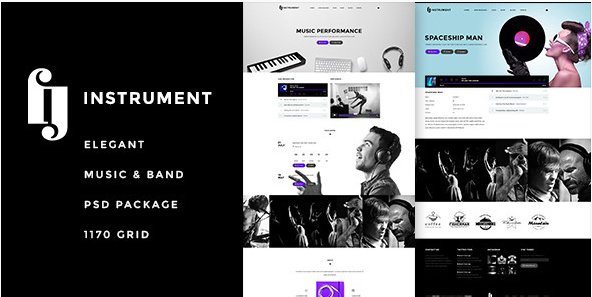 Instrument - Elegant Music & Bands PSD