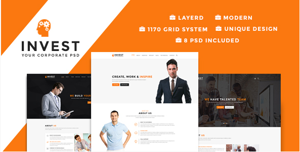 Invest - Multipurpose Business PSD Template