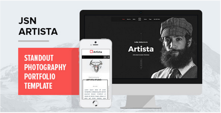 JSN Artista - Standout photography portfolio template