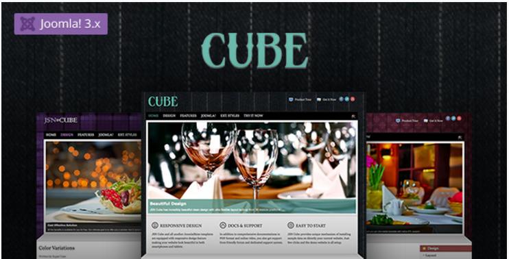 JSN Cube - Joomla Fashion Responsive Template