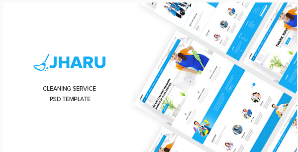Jharu – Cleaning Service PSD Template
