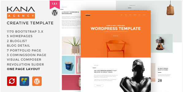 Kana - Creative Agency WordPress Theme