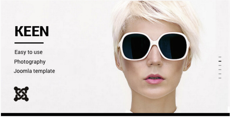 Keen - Minimalistic Photography Joomla Template