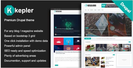 Kepler – Premium BlogMagazine Drupal theme
