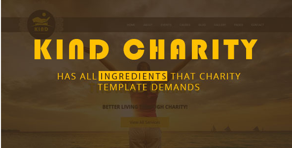 Kind Charity HTML Template for Mosque, Church and NGO Charity
