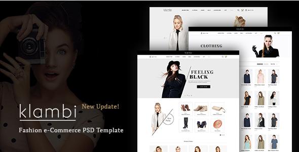 Klambi e-Commerce Fashion Template PSD
