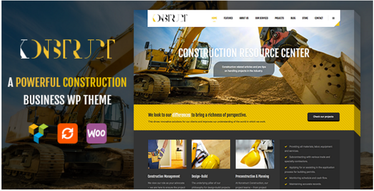 Konstruct - WordPress Construction, Building And Business Theme