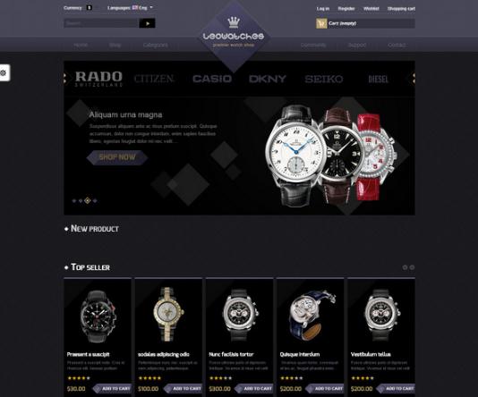 LEO: Cool Prestashop Online Watches Store