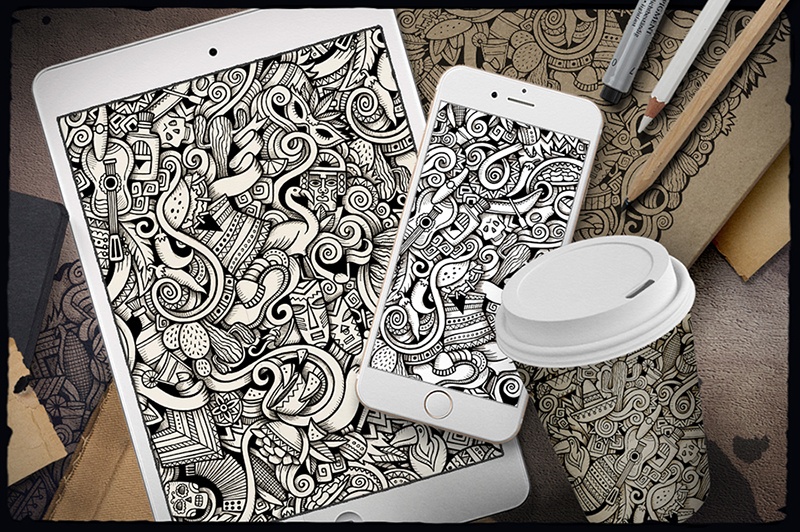 Latin-American-Doodle-Pattern