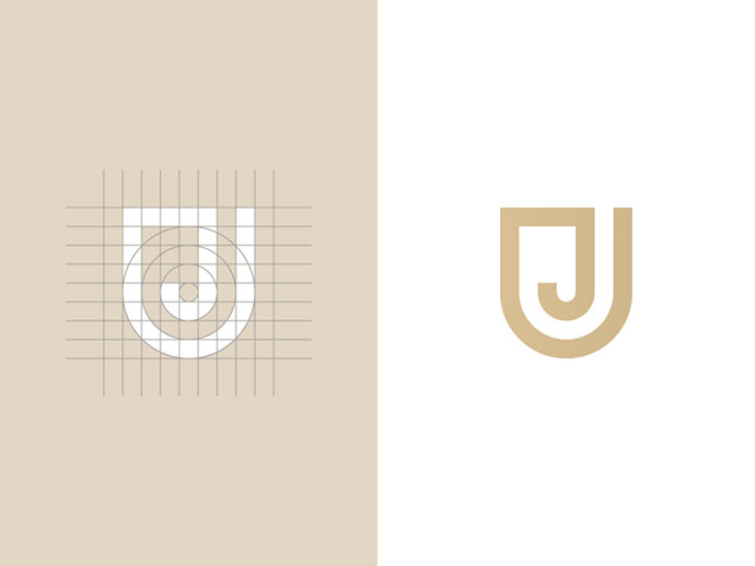Letter J + shield mark