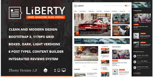 Liberty News - Magazine, Blog Drupal Theme