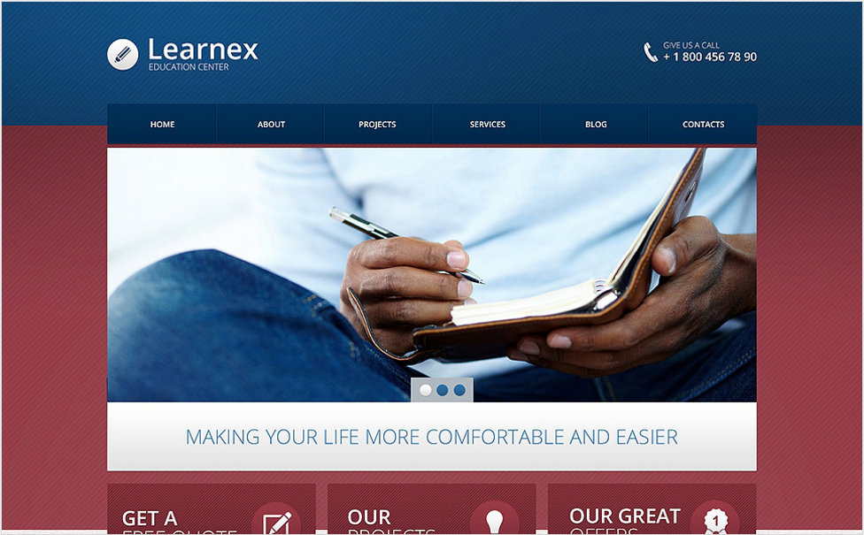 Library Responsive Drupal Template