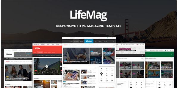 LifeMag - Responsive HTML Magazine Template