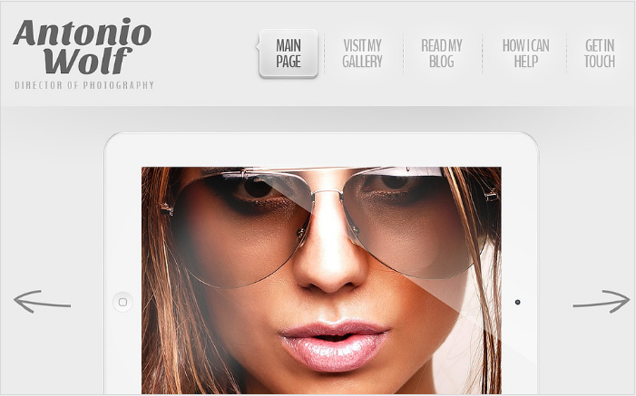 Light Art and Photography WordPress Theme