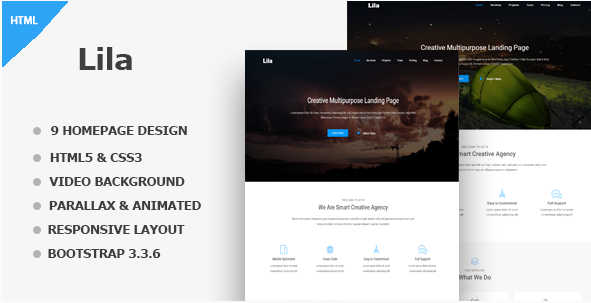 Lila - One Page Template