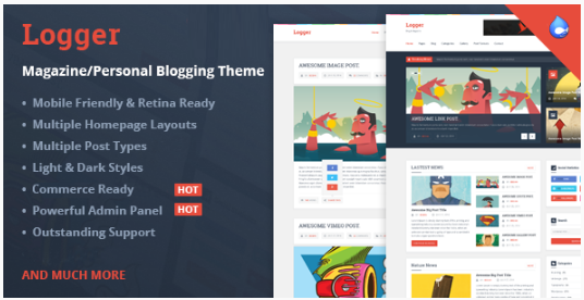 Logger - MagazinePersonal Blogging Theme