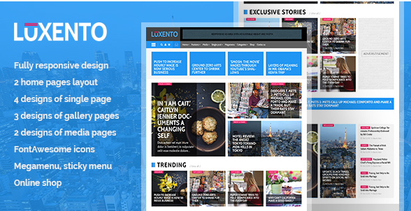 Luxento Magazine HTML5 template