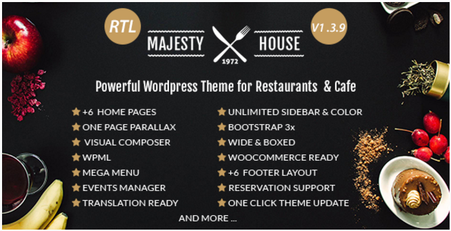 Majesty - Restaurant WooCommerce WordPress Theme