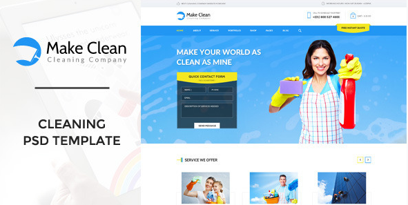 Best Cleaning Company PSD Templates