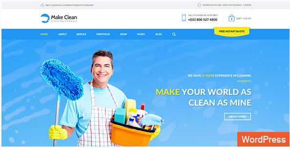Best WordPress Cleaning Company Themes