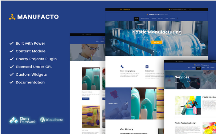 Manufacto - Industrial and Manufacturing Company WordPress Theme