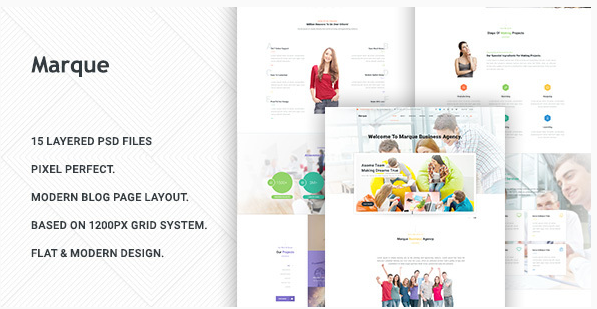 Marque - Business PSD Template