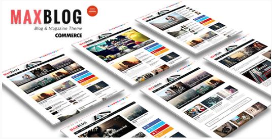 MaxBlog - Flat News Magazine Blog Drupal