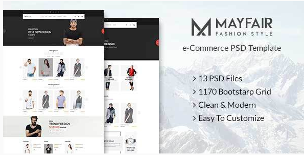 Mayfair - eCommerce PSD Template