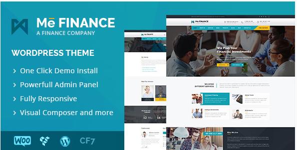 Me Finance - Business and Finance WordPress Theme