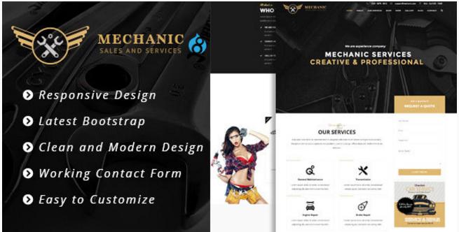 Mechanic - Car Service & Workshop Bootstrap Drupal 8 Theme