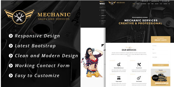 Mechanic - Car Service & Workshop Bootstrap Template