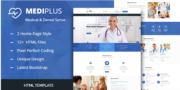 Medi Plus - Health And Medical HTML Template