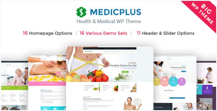 MedicPlus - Health & Medical WordPress Theme