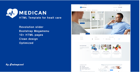 Medican - Health, Medical,Booking, Hospital Template