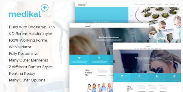 Medikal - Health Care & Medical HTML5 Template