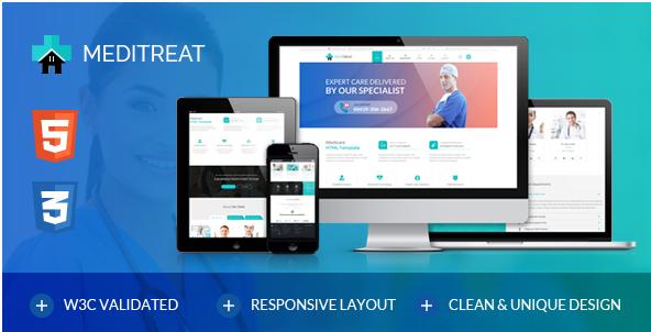 Meditreat-A Responsive Medical HTML Template for Hospitals, Clinics, Doctors & more