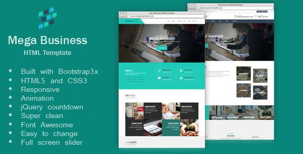 Mega Business - Corporate, Business, HTML5 Template