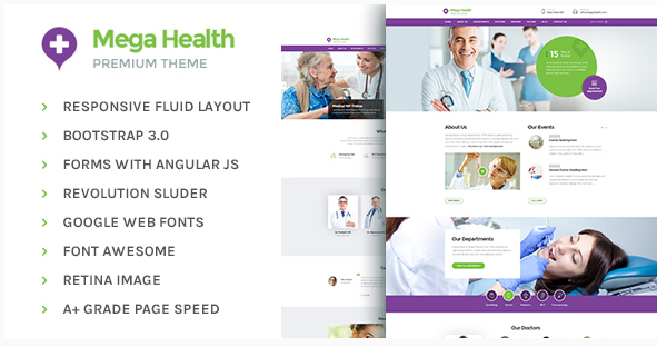 Mega Health - Health and Medical Centers HTML5 Template