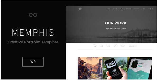 Memphis - Minimal Creative WordPress Theme