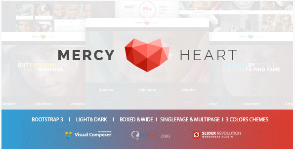 Mercy Heart - Modern Charity WordPress Theme