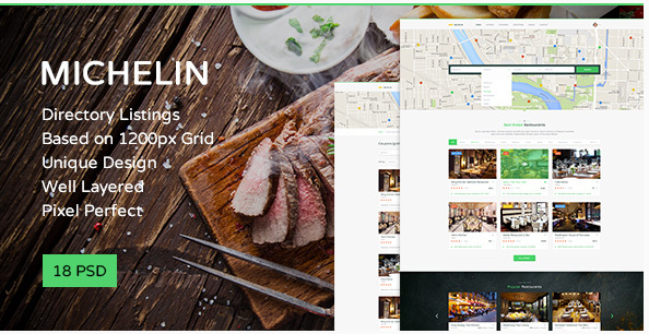 Michelin — Multipurpose Directory Listing PSD Template