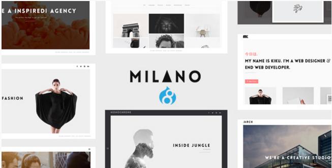 Milano Creative Minimal Drupal 8 Theme