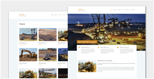 Miner - Modern Industrial WordPress Theme