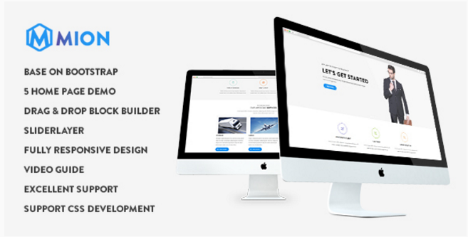 Mion - Responsive Business Service Drupal 8 Theme