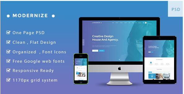 Modernize – Multi-purpose Business PSD Template