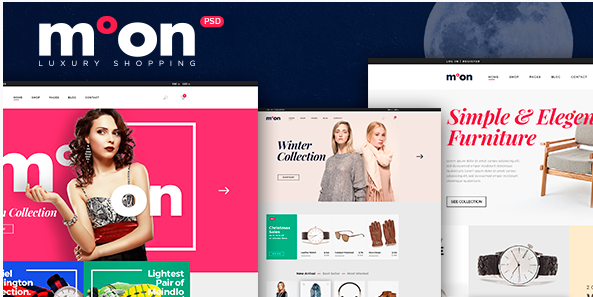 Moon - eCommerce PSD Template