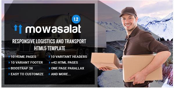 Mowasalat  Responsive Logistics and Transport HTML5 template