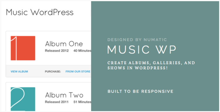 Music WordPress Template - For Musicians