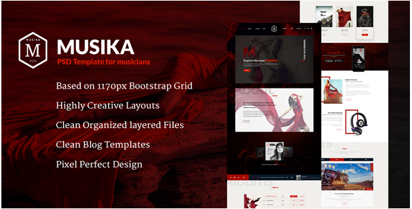 Musika - Music PSD Template