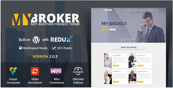 My Broker - Business and Finance WordPress Theme